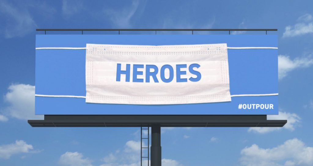 OOH Thanks Healthcare Workers <br/> <span style='color:#000000;font-size: 18px;'>The Buntin Group Thanks Medical Workers Through Outdoor Advertising Campaign   </span>