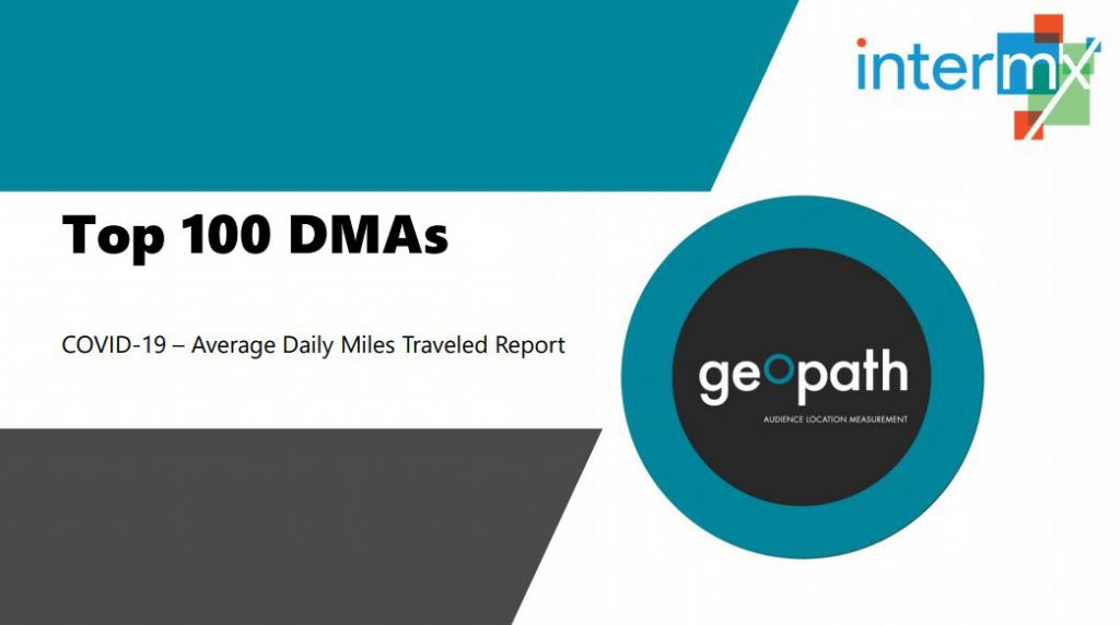 Top 100 DMAs Report <br/> <span style='color:#000000;font-size: 18px;'>Report consisting of the Average Daily Miles traveled for the top 100 DMAs </span>