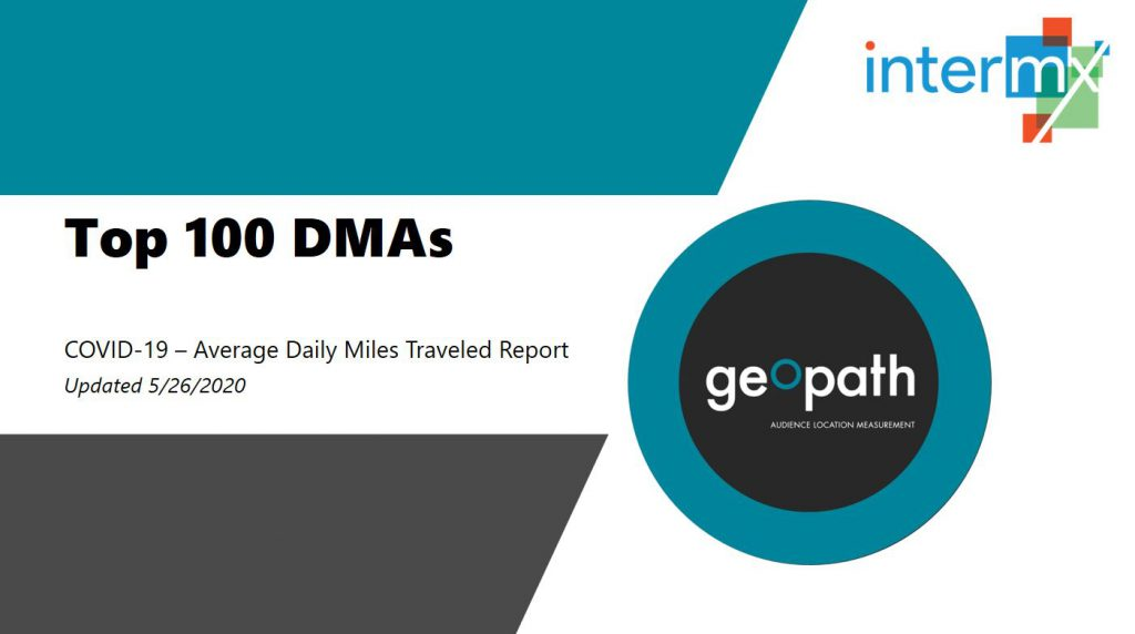 Top 100 DMAs Report (Updated Data Through May 22nd) <br/> <span style='color:#000000;font-size: 18px;'>Substantial growth in average daily miles traveled over the past month in the top 100 DMAs</span>