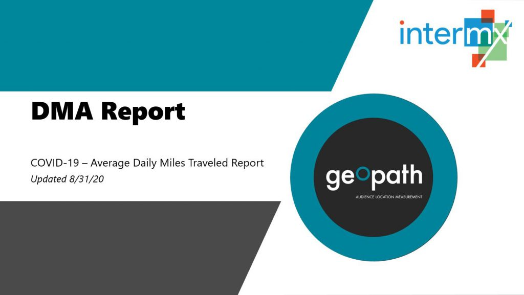 DMA Report | August 31st, 2020 <br/> <span style='color:#000000;font-size: 18px;'>Report showing travel trends for every DMA across the country</span>